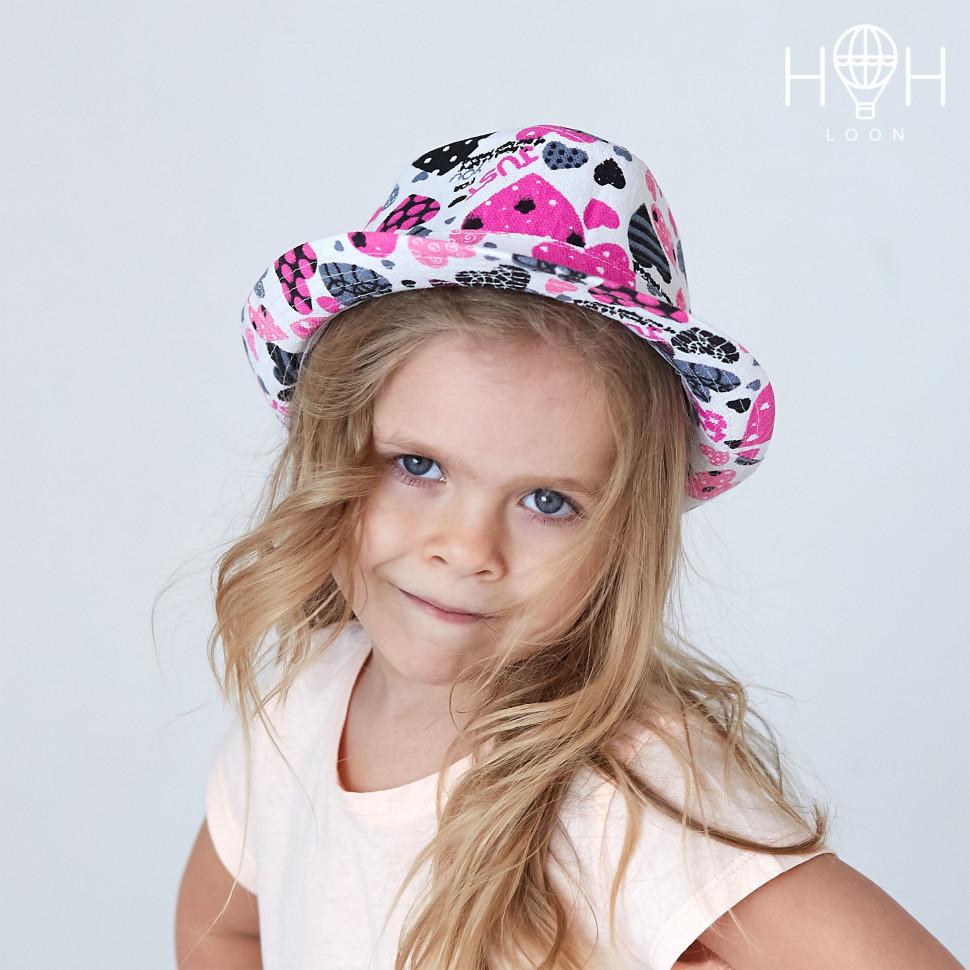 ШЛ19к- Шляпа Сердечки, белый