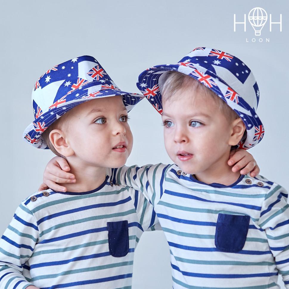 ШЛ19к - Шляпа Флаг, синий