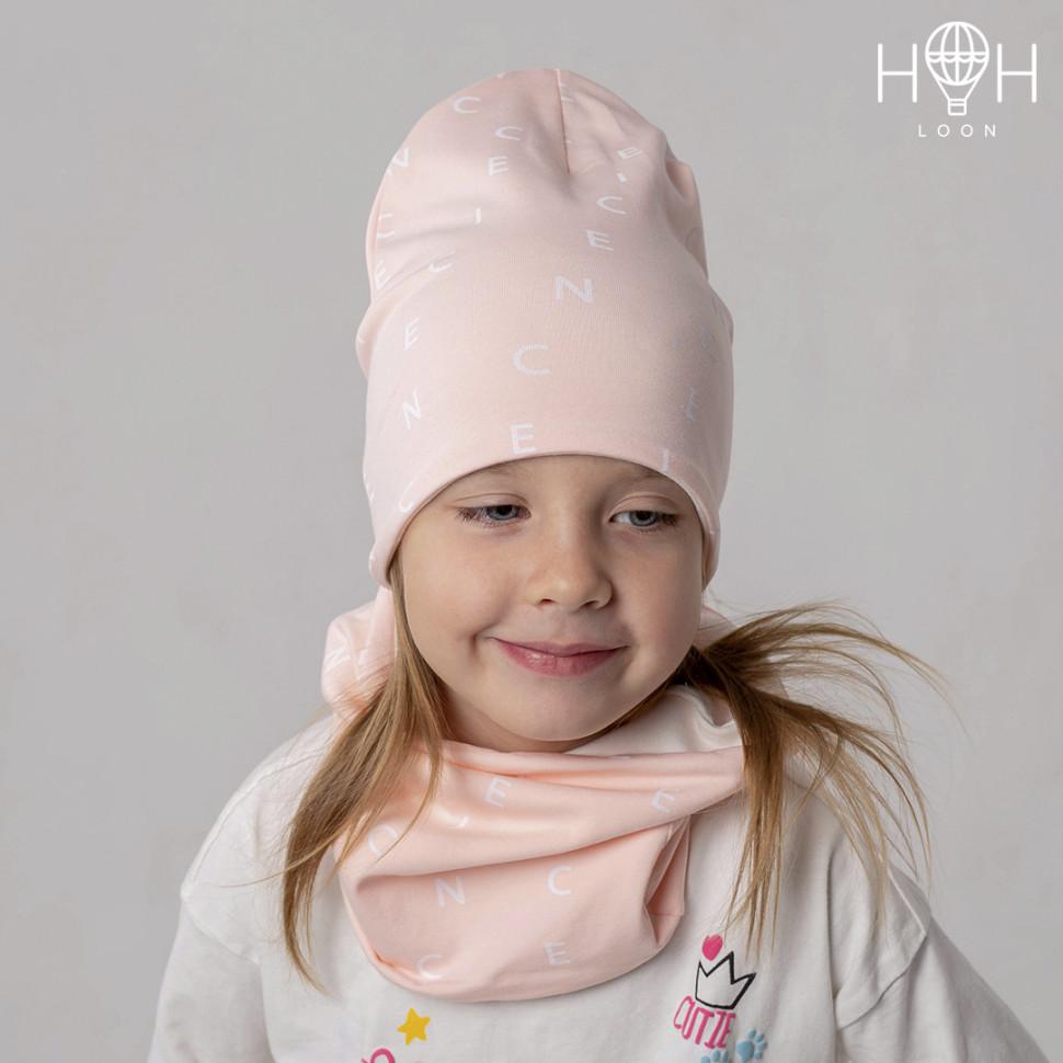 ШВ19-05151290 Двухслойная удлиненная трикотажная шапка с принтом, буквы пуд