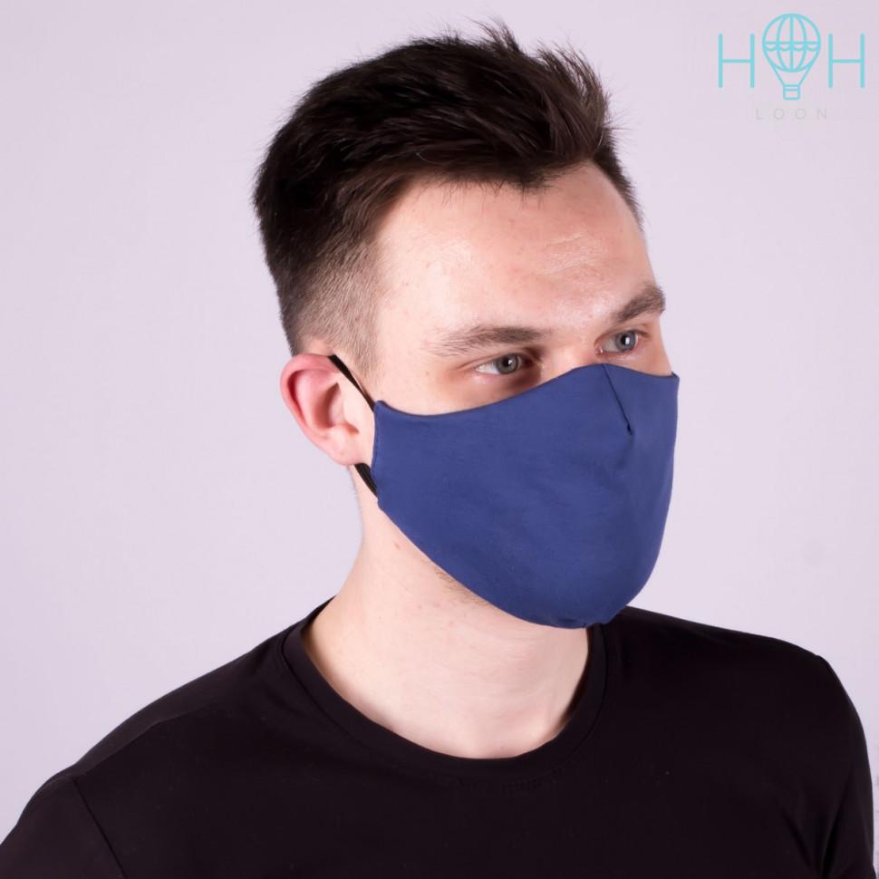 МЗ20-02850590 Комплект из 3 текстильных масок улучшенной конструкции, индиг