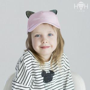 ЛК-103брз Кепка детская кошка, бледно-розовый