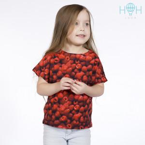 ОФ-204млн Футболка для девочки, малинка