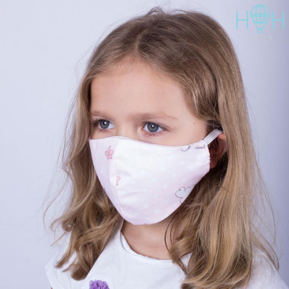 МЗ20-03342490 Комплект из 2 текстильных детских масок, облака