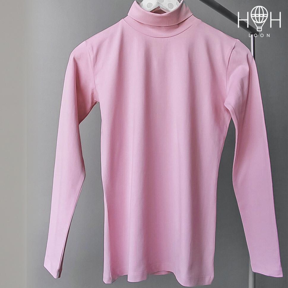 УШФ18-02 Водолазка для девочек, розовая